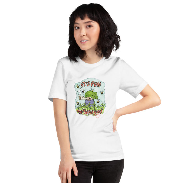 Hemp cultivation supports bees T-Shirt  - white -