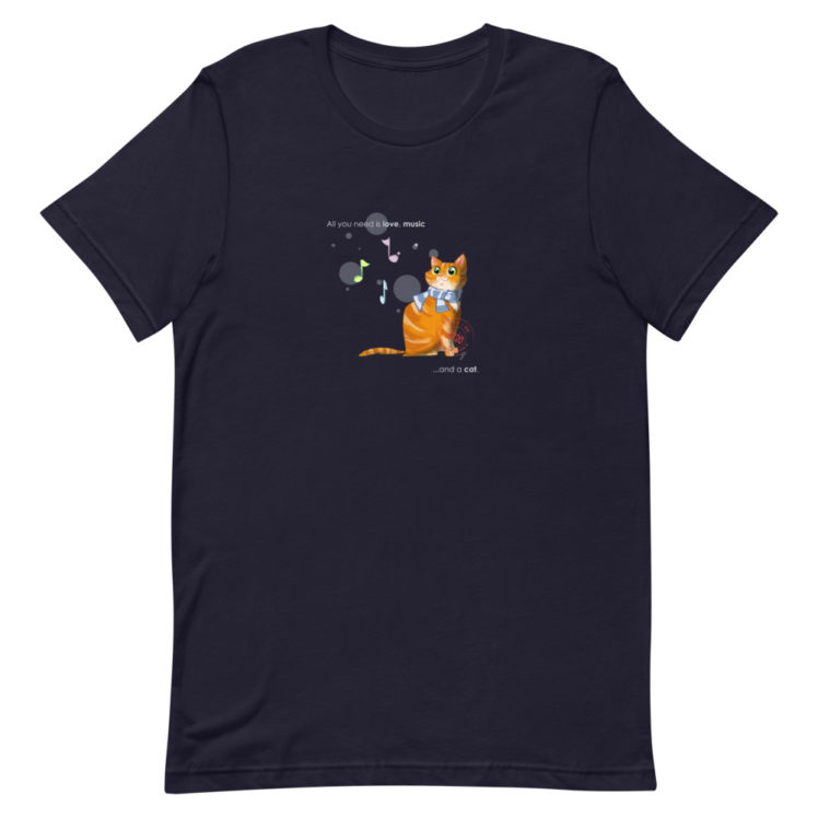 Cat love is forever  - T-Shirt - navy - Newsontshirt