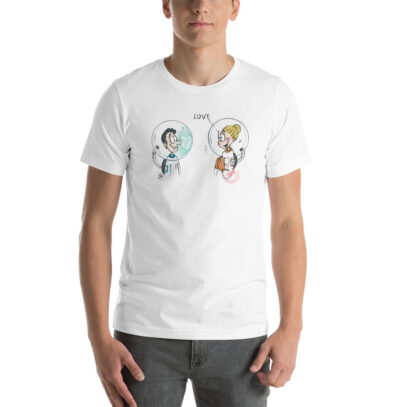 Love in the time of Corona  - T-Shirt - white - man -Newsontshirt