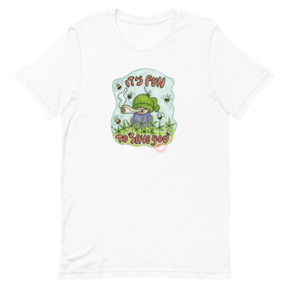 Hemp cultivation supports bees - T-Shirt - white - Newsontshirt