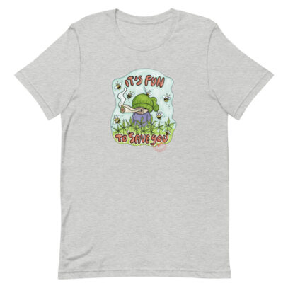 Hemp cultivation supports bees - T-Shirt  - athletic heather - Newsontshirt