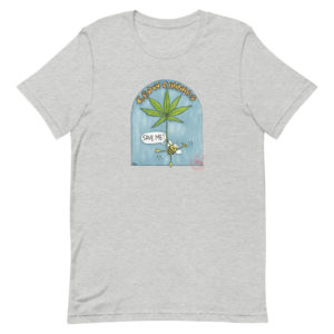 Cannabis sativa supports bees T-shirt