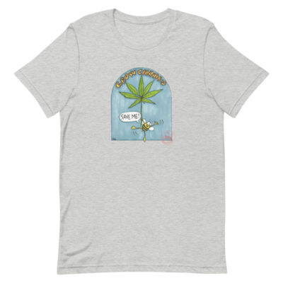 Cannabis sativa supports bees T-shirt - Newsontshirt