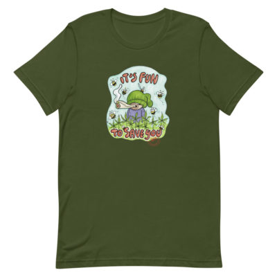 Hemp cultivation supports bees T-Shirt - olive -