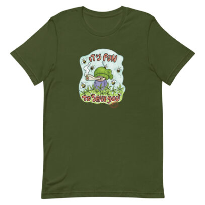 Hemp cultivation supports bees T-Shirt  - olive - Newsontshirt
