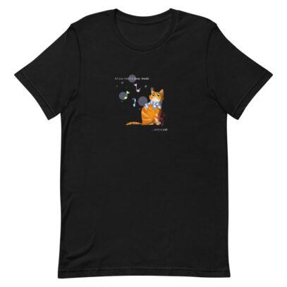 Cat love is forever  - T-Shirt - black  - Newsontshirt