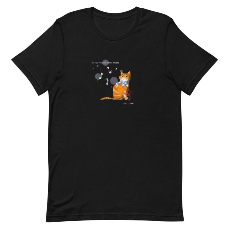 Cat love is forever  - T-Shirt - black  - Newsontshirt