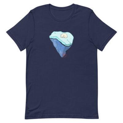 Global Warming - T-Shirt - navy - Newsontshirt