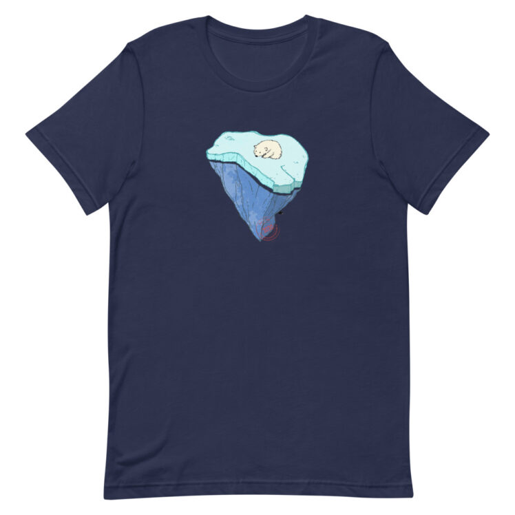 Global Warming - T-Shirt - navy - Newsontshirt