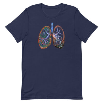 Pollution and Health - T-Shirt - navy - Newsontshirt