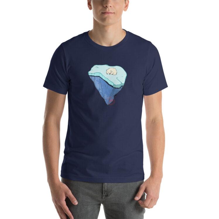 Global Warming - T-Shirt - navy - man - Newsontshirt