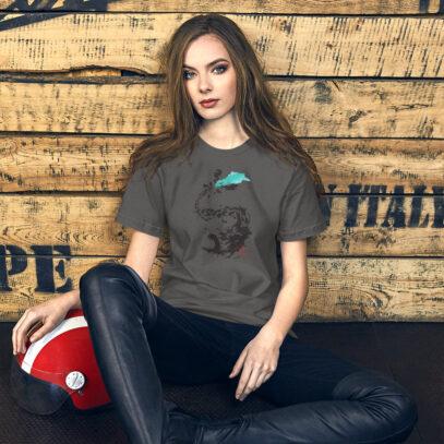 OilSpill - T-Shirt - asphalt - women1 - Newsontshirt