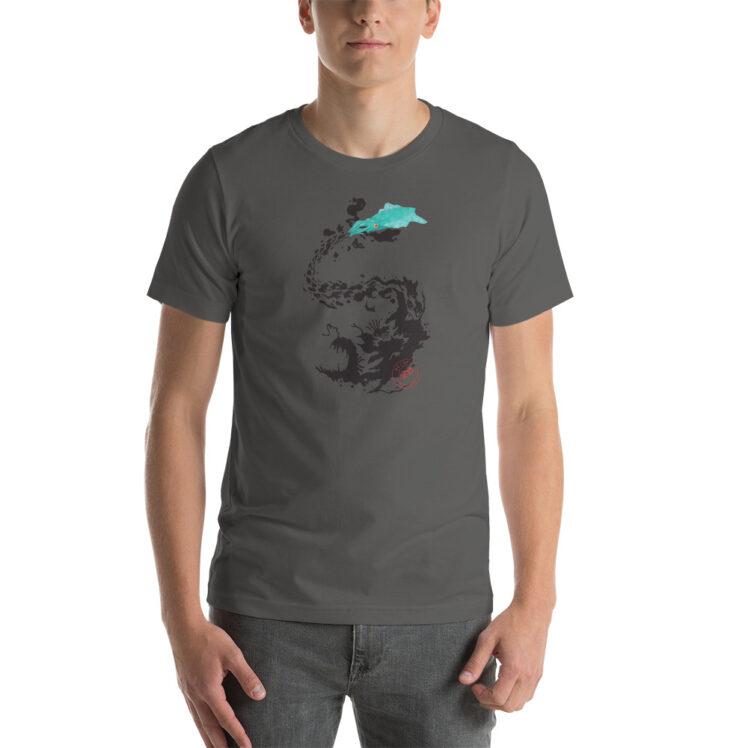 OilSpill - T-Shirt - asphalt - man - Newsontshirt