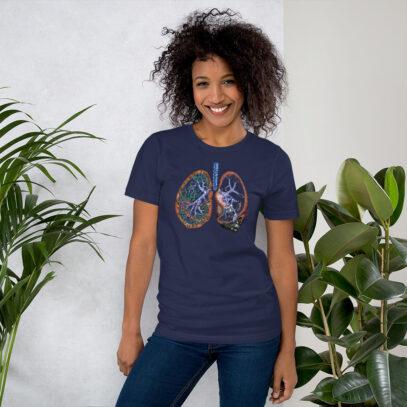 Pollution and Health - T-Shirt - navy - women2 - Newsontshirt