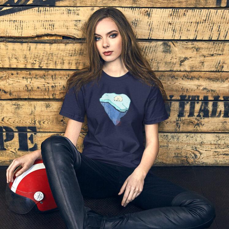 Global Warming - T-Shirt - navy - women2 - Newsontshirt