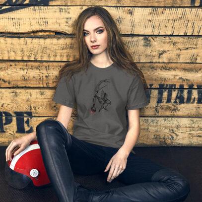 Earth Overshoot Day - T-Shirt - asphalt  - women1 - Newsontshirt