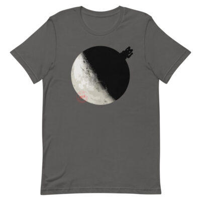 China landed on the Dark Side of the Moon - T-Shirt - asphalt - Newsontshirt
