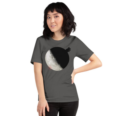 China landed on the Dark Side of the Moon - T-Shirt - asphalt - women1 - Newsontshirt