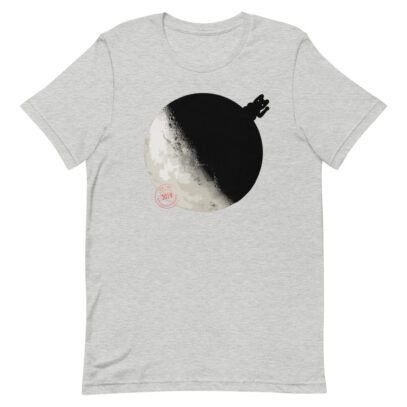 China landed on the Dark Side of the Moon - T-Shirt - athletic-heather - Newsontshirt