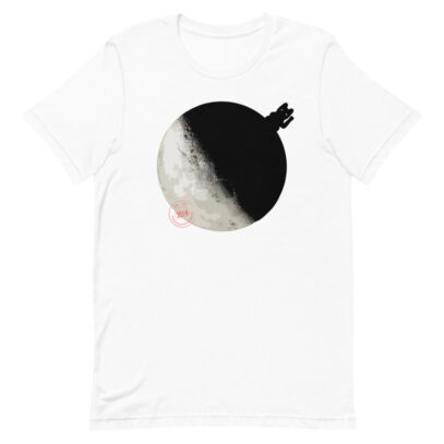 China landed on the Dark Side of the Moon - T-Shirt - White - Newsontshirt