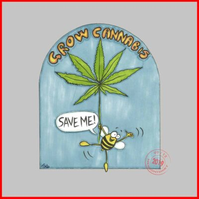 Cannabis-sativa-supports-bees-artwork-Newsontshirt
