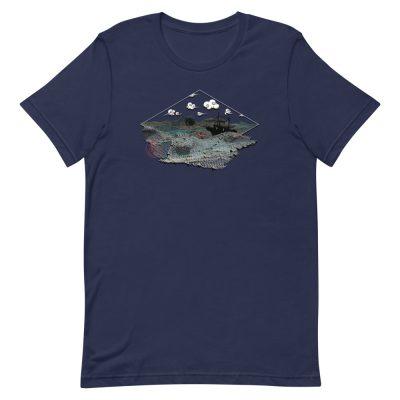 Ghost Nets - T-Shirt -Navy - Newsontshirt