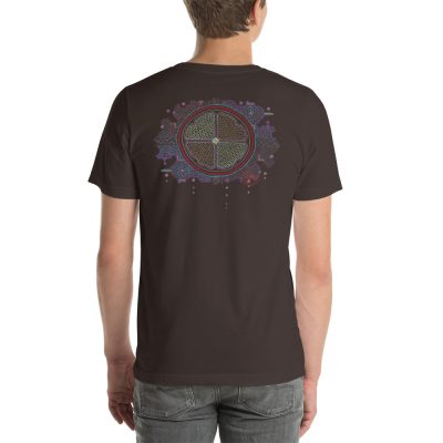 Ayahuasca - Back T-Shirt - Brown - Newsontshirt